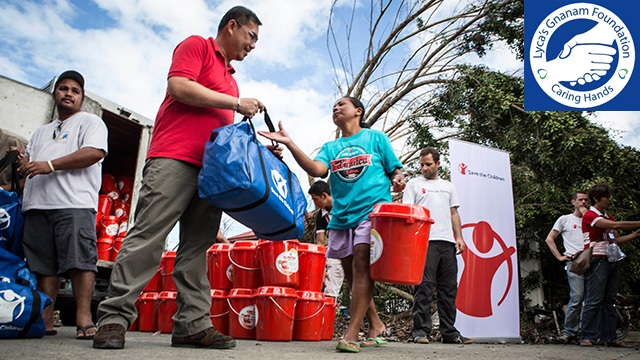 Lyca's Gnanam Foundation has donated funds to victims of the Typhoon Haiyan in the Philippines