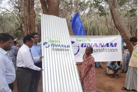 Distributed Shelter Materials in Mannar District