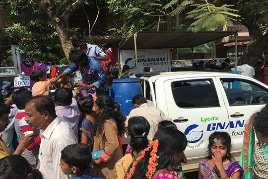 Water and Food Distribution for Trincomalee Temple Festival Season