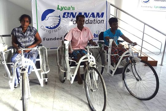 Lyca's Gnanam Foundation Tricycle distribution 2015